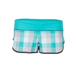 LULULEMON Speed Checkmate Short in Blue/Green/White Plaid Size 4